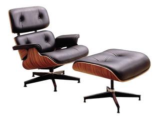 Sillon Ocasional De Piel Italiana Sicilia Diseñador Eames