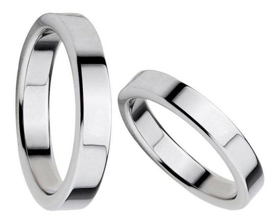 Alianzas Casamiento Acero Quirúrgico 2 Anillos Cinta + Grabado