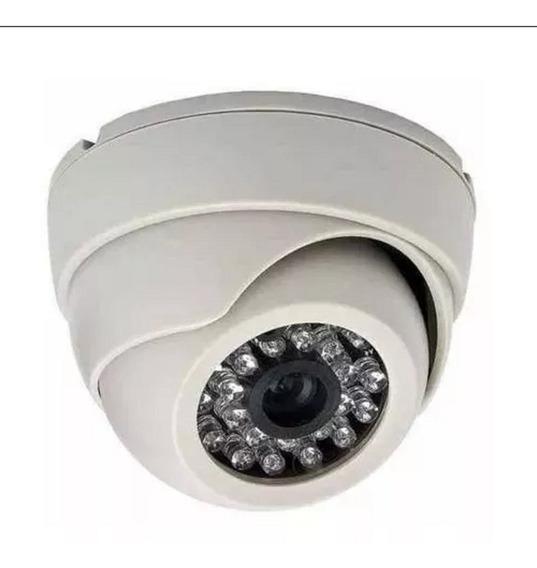 Camera Segurança 24 Led Dome Analógica 1.2 Hd Filma A Noite