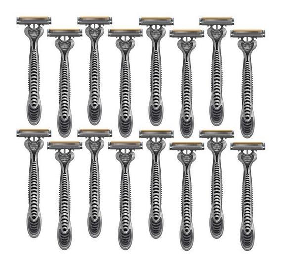 Prestobarba 3 Lâminas Para Barbear Kit Com 16 Barbeadores