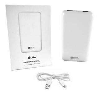 Bateria Portátil Power Bank, iPhone, Android, 10000mah