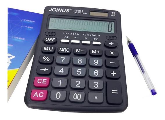 Calculadora Eletrônica Joinus Js-881de Mesa Solar 12 Digitos