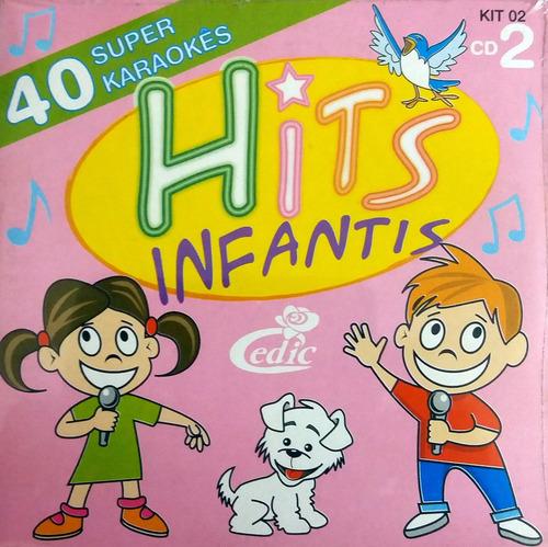 Cd 40 Hits Infantis Super Karaokês Original + Brinde