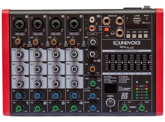 Mesa De Som Compacta Soundvoice Mc6plus (6 Canais)