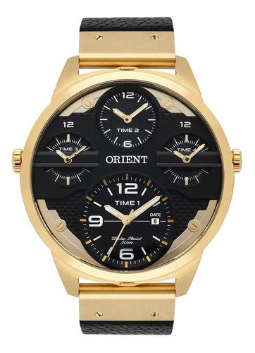 Imagem 1 de 10 de Relogio Masculino Orient  Mgsct001 P2px Dourado