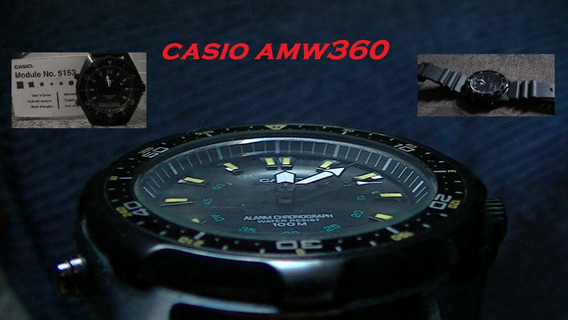Relogio Casio Amw-360 Black Edition