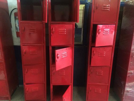Lockers Casilleros 5 Puertas Rojos Para Exigentes Envios Df