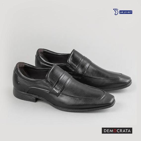 Sapato Democrata Em Couro 224103