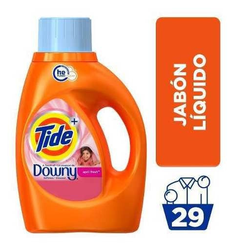 Jabón Líquido Tide Con Downy April Fresh 29 Lavadas