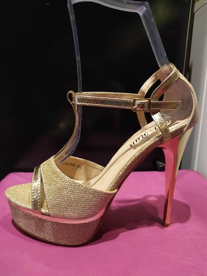 Zapato Dama Taco Aguja De 15 Cm Talle 40,41