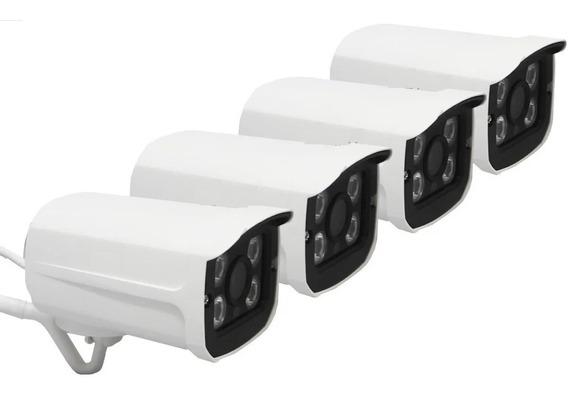 Kit 4 Camera Ip Wifi Sem Fio De Segurança Android Externa
