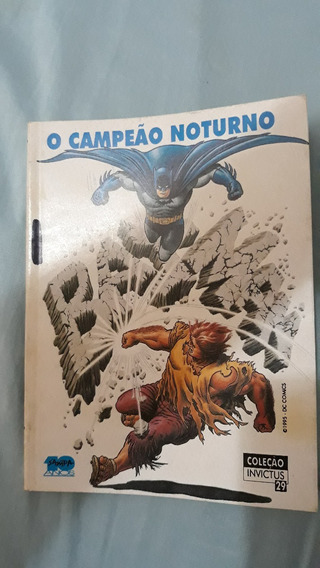 Revista Batman Coleção Invictus Antiga Preto E Branco Raro