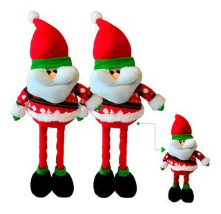 Muñecos Navidad Santas Patas Largas X2 50 Cm