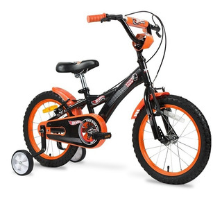 Bicicleta Nene Hotwheels Rodado 16 Ruedas Camara Y Rayos