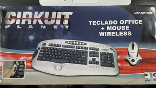 Combo Teclado Y Mouse Ps2 Wi-fi Cirkuit Planet Crazy Machine