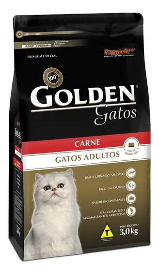 Ração Para Gatos Adultos Golden 10,1 Kg Carne