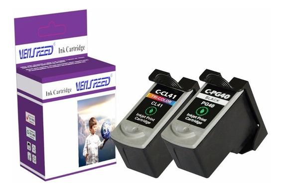 Combo Cartuchos Compatible Canon Negro Pg-40 Y Color Cl-41