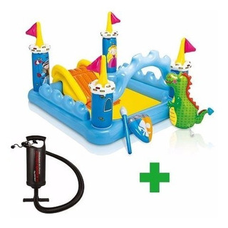 Pileta Inflable Playcenter Intex Castillo Con Inflador