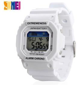 Relógio Skmei Branco Digital Prova D Água Barato Promoção