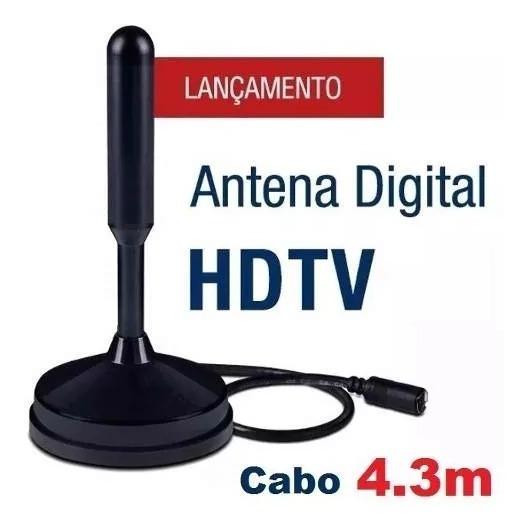 Antena Interna Tv Digital Hdtv Dtv Uhf 100% Original Fio4,3m