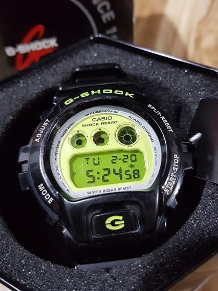 Relógio Original Casio G-shock Modelo Dw6900 Preto E Neon