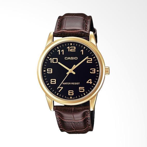 Relógio Casio Collection Mtp-v005gl-1budf Dourado Pulseira M
