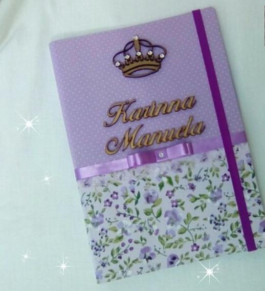 Capa Para Caderneta De Vacina Tema Floral Lilás