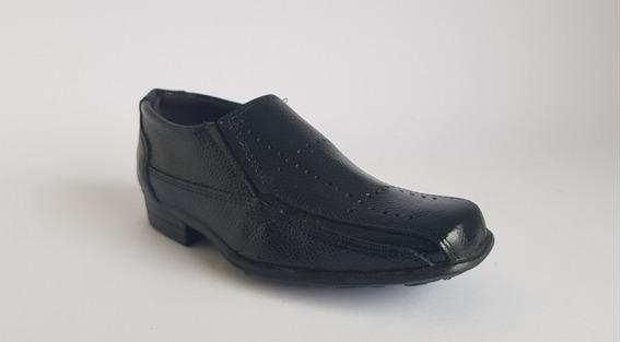 Sapato Social Preto Infantil Colegial Confortável Promoção