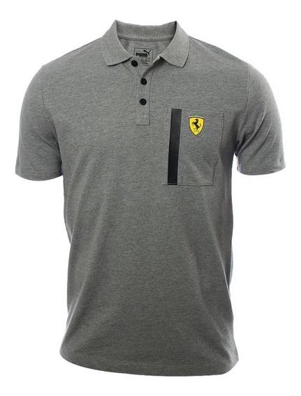 Playera Puma Ferrari Polo Gris