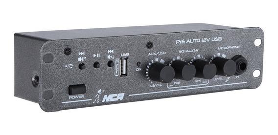 Pré Amplificador Automotivo Com Usb Preauto12vusb Ll Áudio