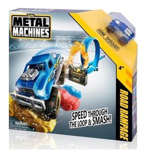 Pista Autos Metal Road Rampage Con Auto Juegos Nenes