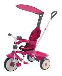 Triciclo Infantil Confort Ride 3x1 Rosa - Xalingo