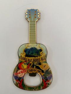 Hard Rock Cafe Iman Destapador Guitarra --caracas--