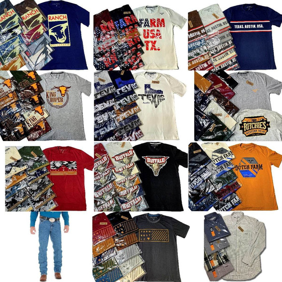 Camiseta Texas King Roper Farm Txc Sacudir Tuff Cinch Ariat