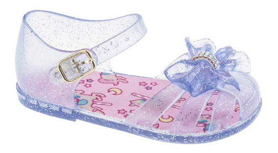 Sandália Cor Neutra Menina Infantil Sapato Feminina