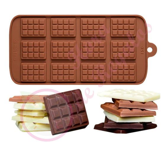 Molde De Silicona 12 Chocolatin Para Bombones Vela Jabon
