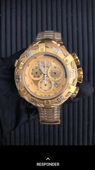 Relógio Invicta 1 Linha Ouro Aaa +