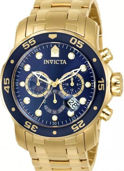 Relógio Pro Driver Plaquê Ouro (0073) (21923)