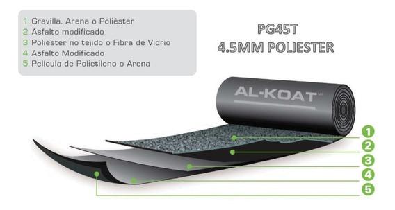 Impermeabilizante Prefabricado Alkoat Pg45t 4.5mm Rojo