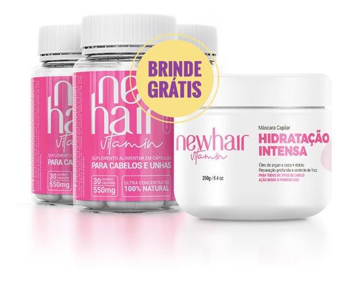 New Hair Caps - Tratamento 90 Dias + Brindes