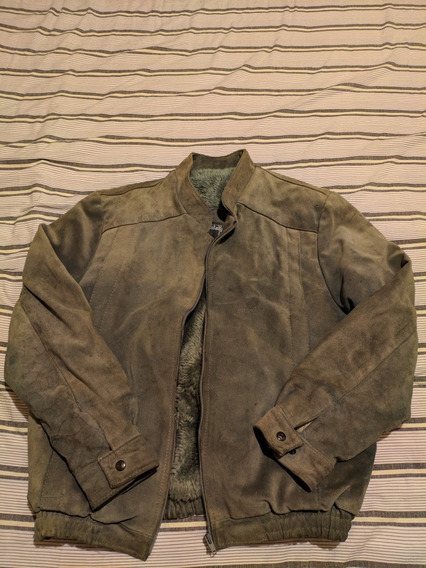 Casaco (jaqueta) De Couro Camurça