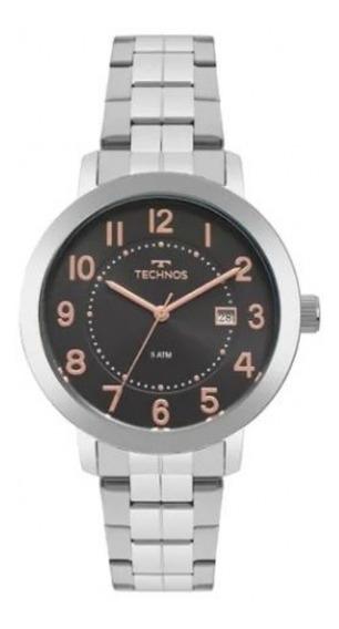 Relógio Technos Feminino Prateado Elegance Dress 2115mrw/1p