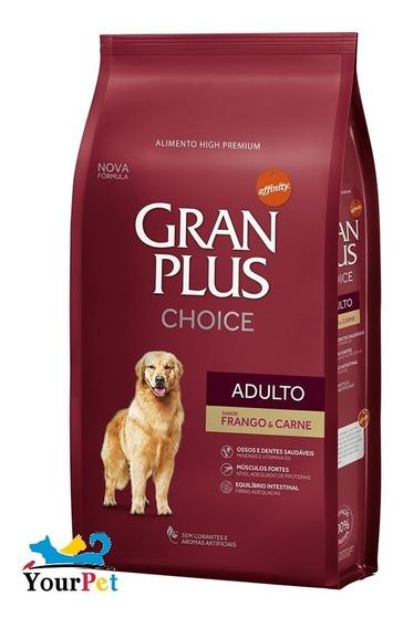 Ração Gran Plus Choice Frango E Carne Cão Adulto 15kg Guabi