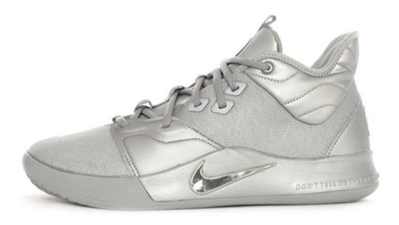Paul George 3 Nasa Nike Plateados Hombre 27 Cm