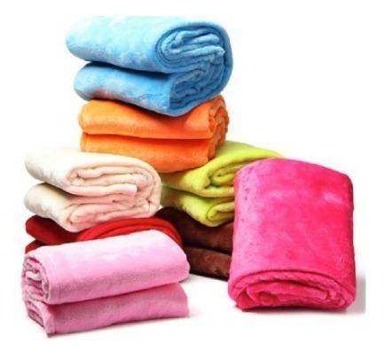 Cobija  / Manta / Frazada / Cobertor Matrimonial Unicolor