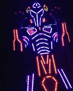 Robot Led Con Neopixel, Láseres En Dedos Y Audiorítmic