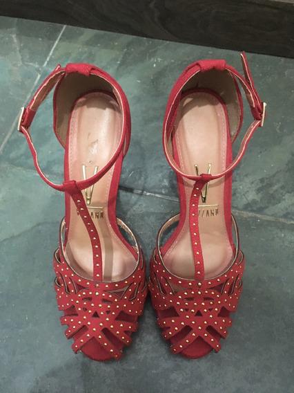 Sandália Salto Vermelha - Vizzano
