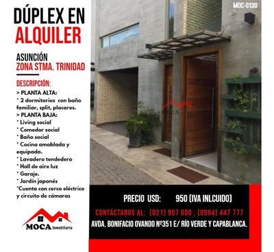 Dúplex En Alquiler Asunción, Moc-0130