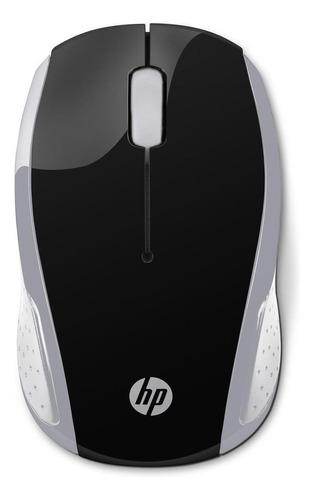 Mouse inalámbrico HP  200 plateado
