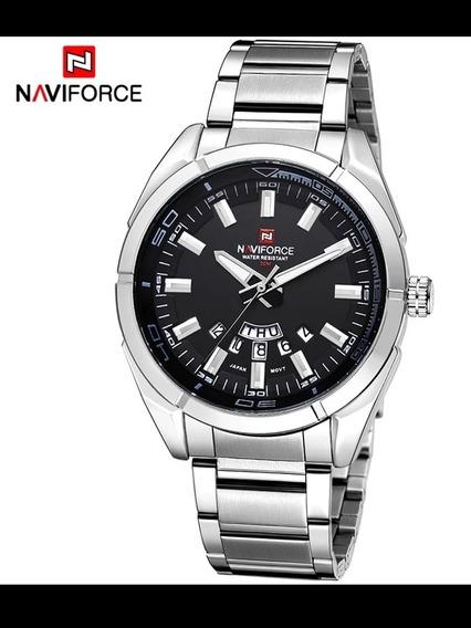 Relógio De Pulso Masculino Naviforce.Moda Casual Em Aço